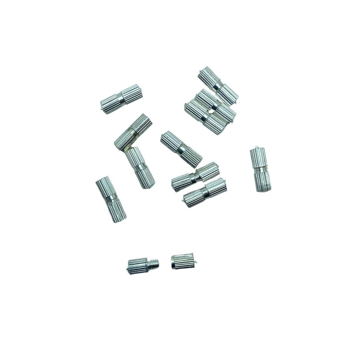 Fecho de Rosca 10mm com furo de 0,8mm Níquel para pulseira - 12 unidades