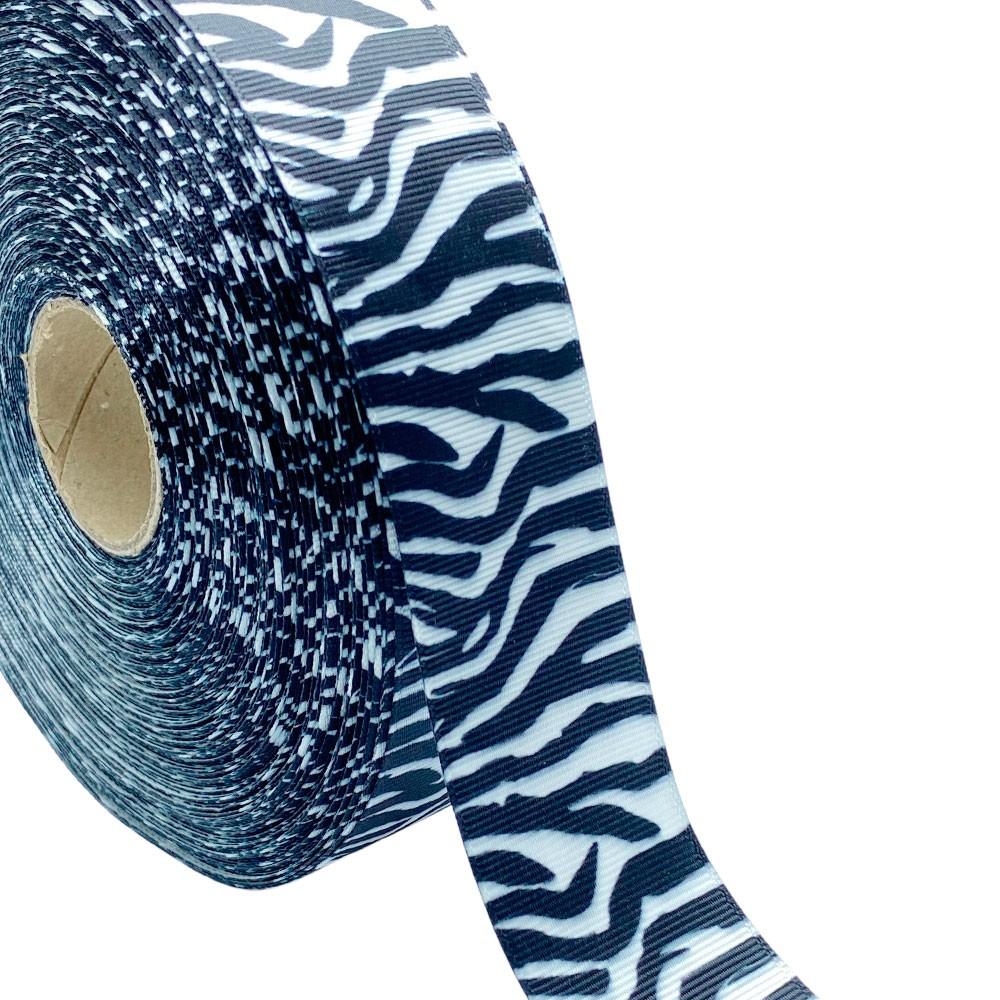 Fita de gorgurão Animal Print Zebra 38mm x 5mts