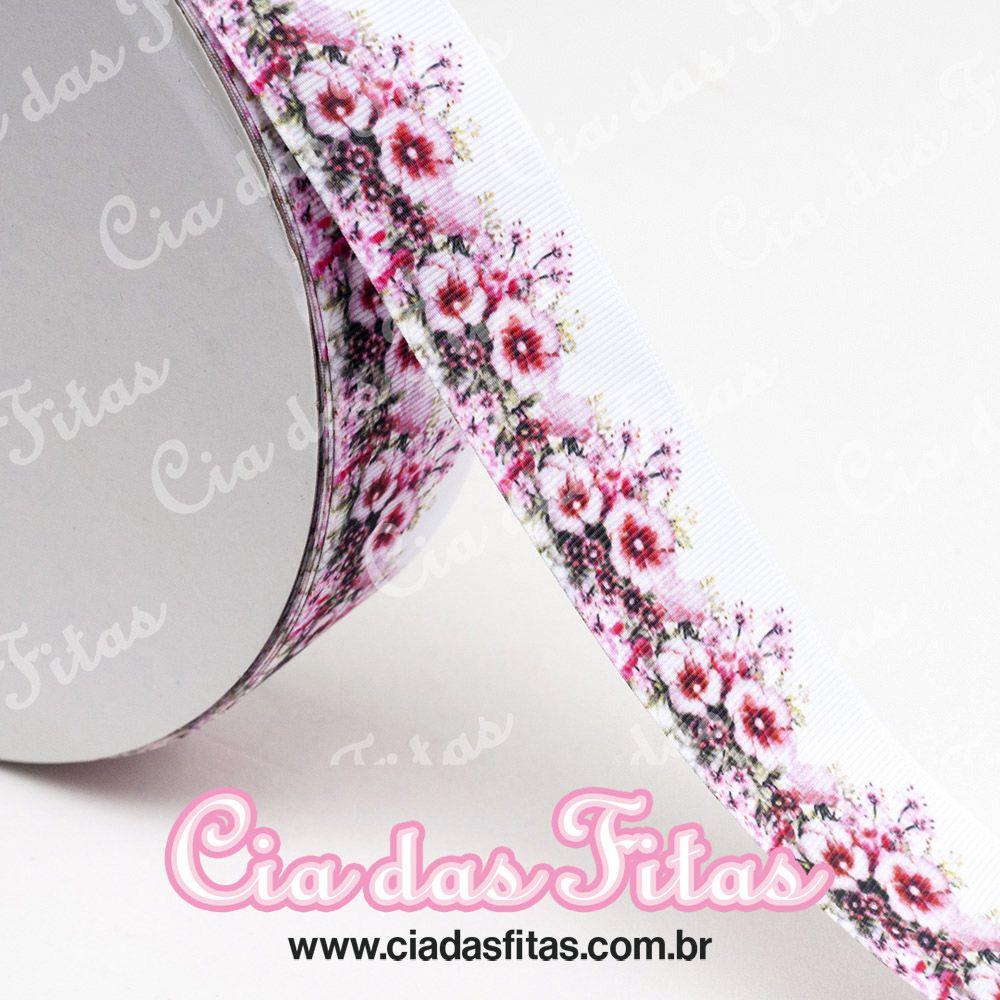 Fita de Gorgurão Floral GF 117 38mm x 5mts