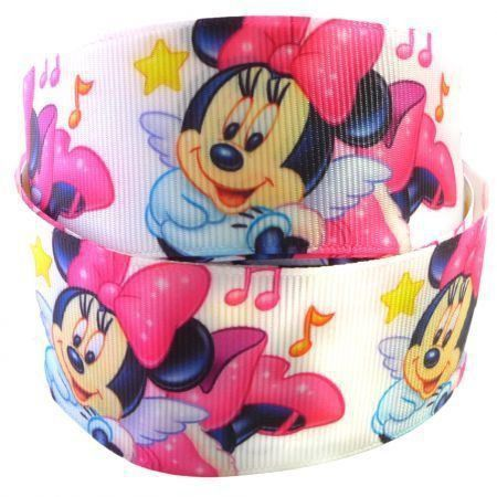 Fita de gorgurão Minnie Pink 38mm x 5mts