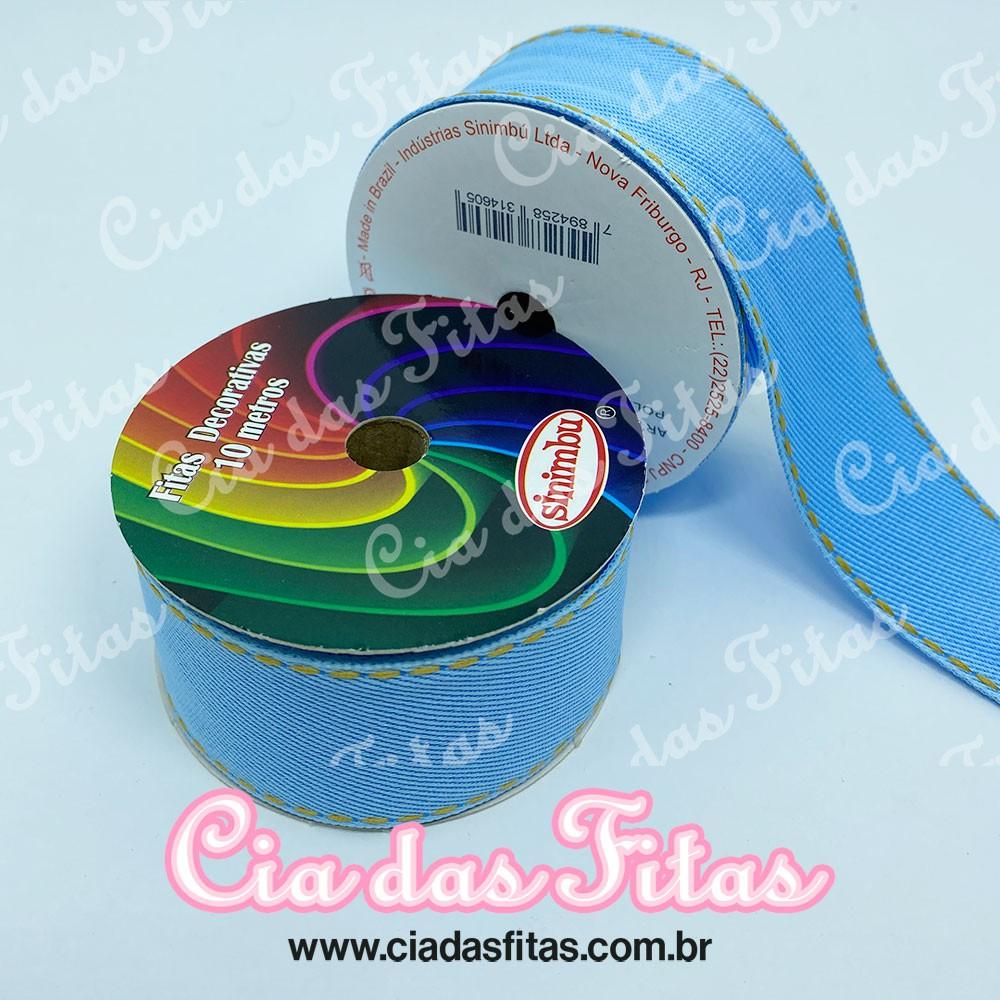 Fita Jeans Clara com pesponto N9 38mm x 10m Sinimbu