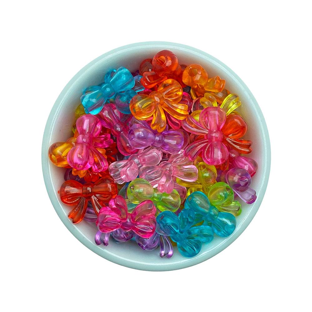 Lacinho Transparente Colorido 15*19mm Passante em Plástico com 25 Gramas