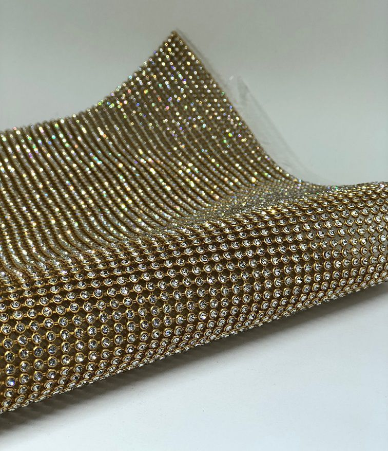 Manta Pedaço Dourado 15x45cm