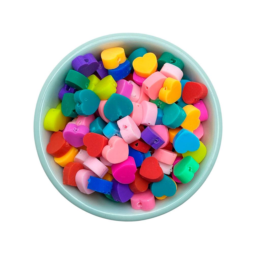 Mini Coração Colorido  Passante com 25 unidades