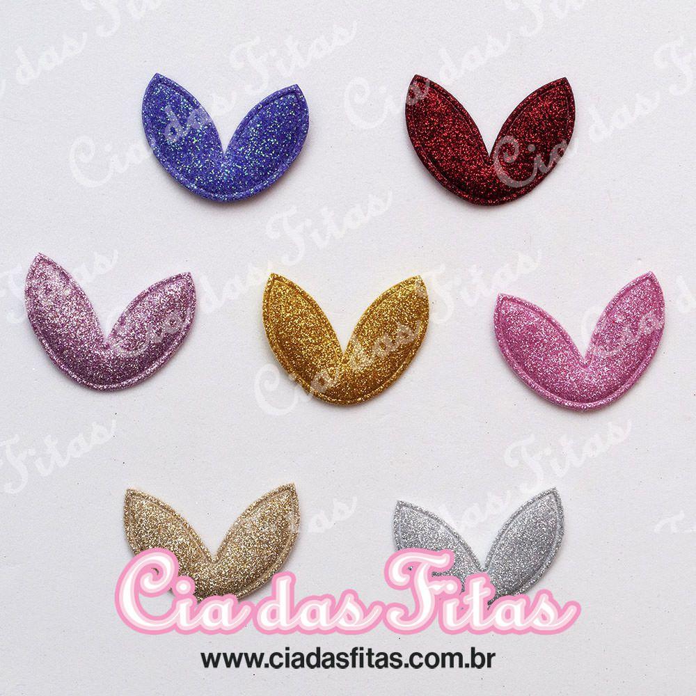 Orelhas Almofadadas com Glitter Melaço