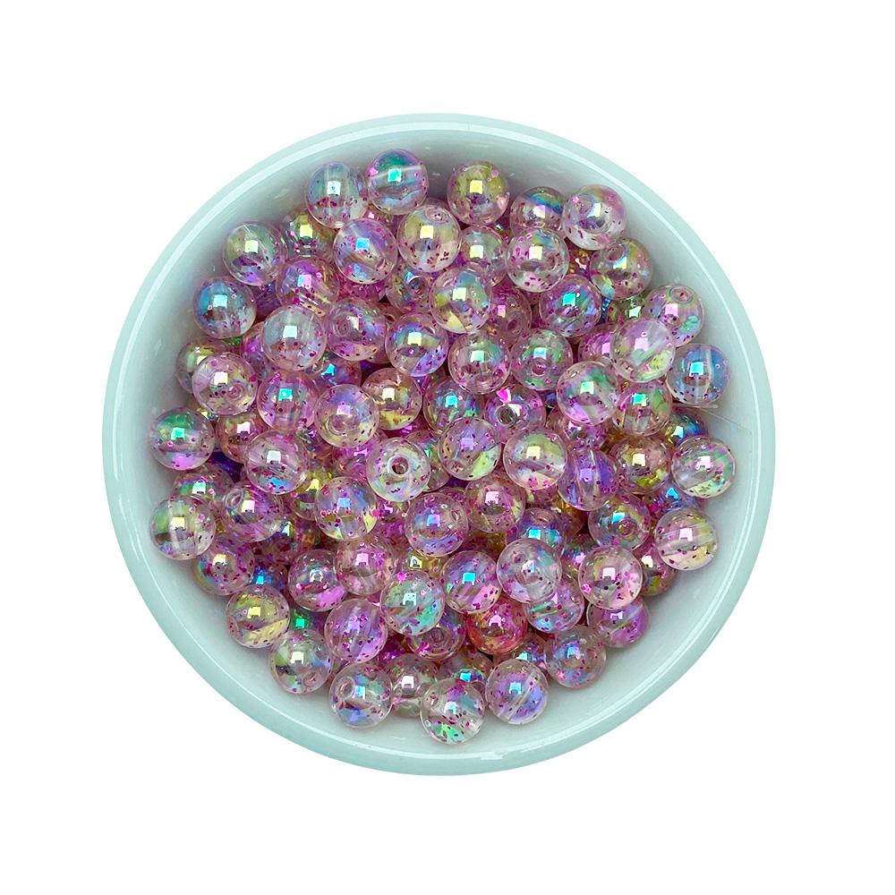 Bola Translucida Acrílica com Glitter 8mm com 25 Gramas