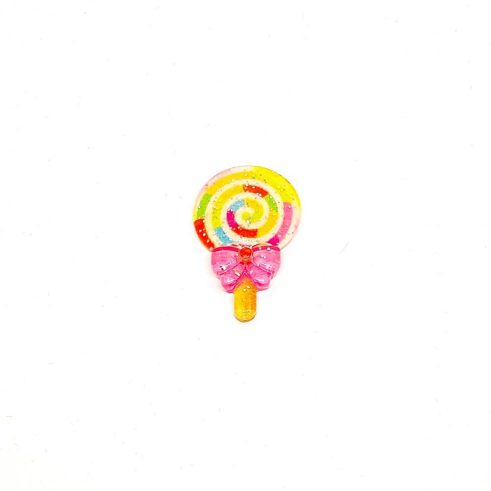 Pirulito de Resina Colorida 3,5cm x 2,0cm