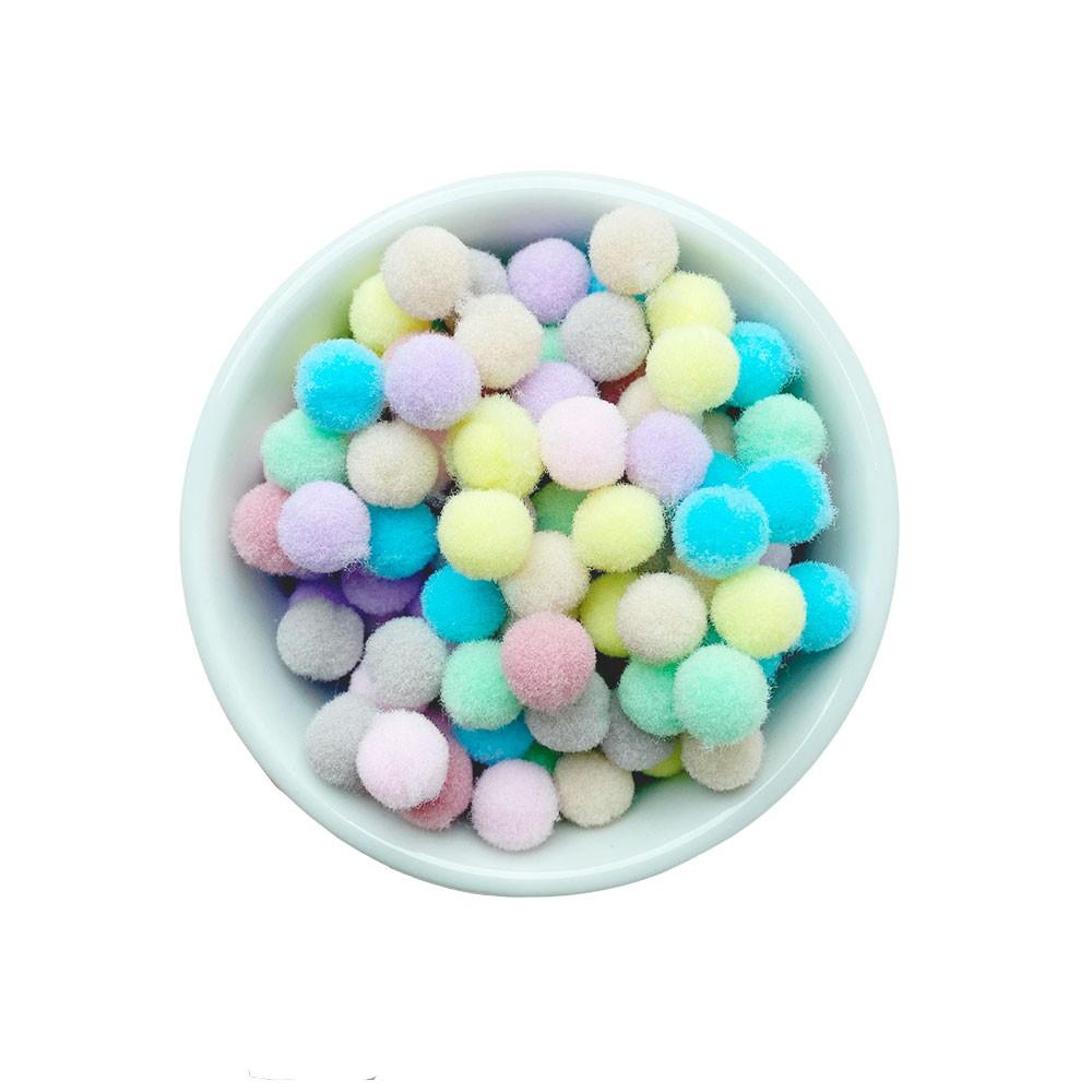 Pompom 10mm Sortido Candy Color Pacote 50 unidades