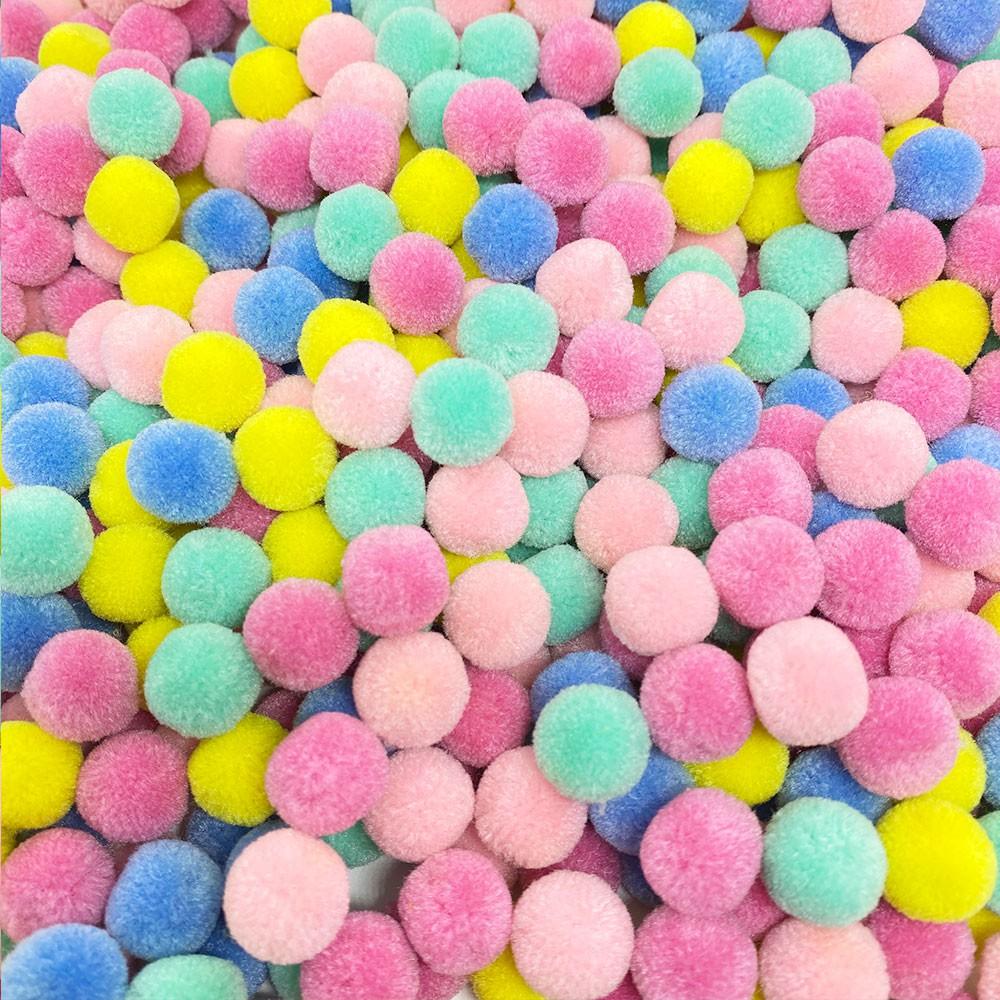 Pompom 15mm Sortido Candy Color Escuro Pacote 20 unidades