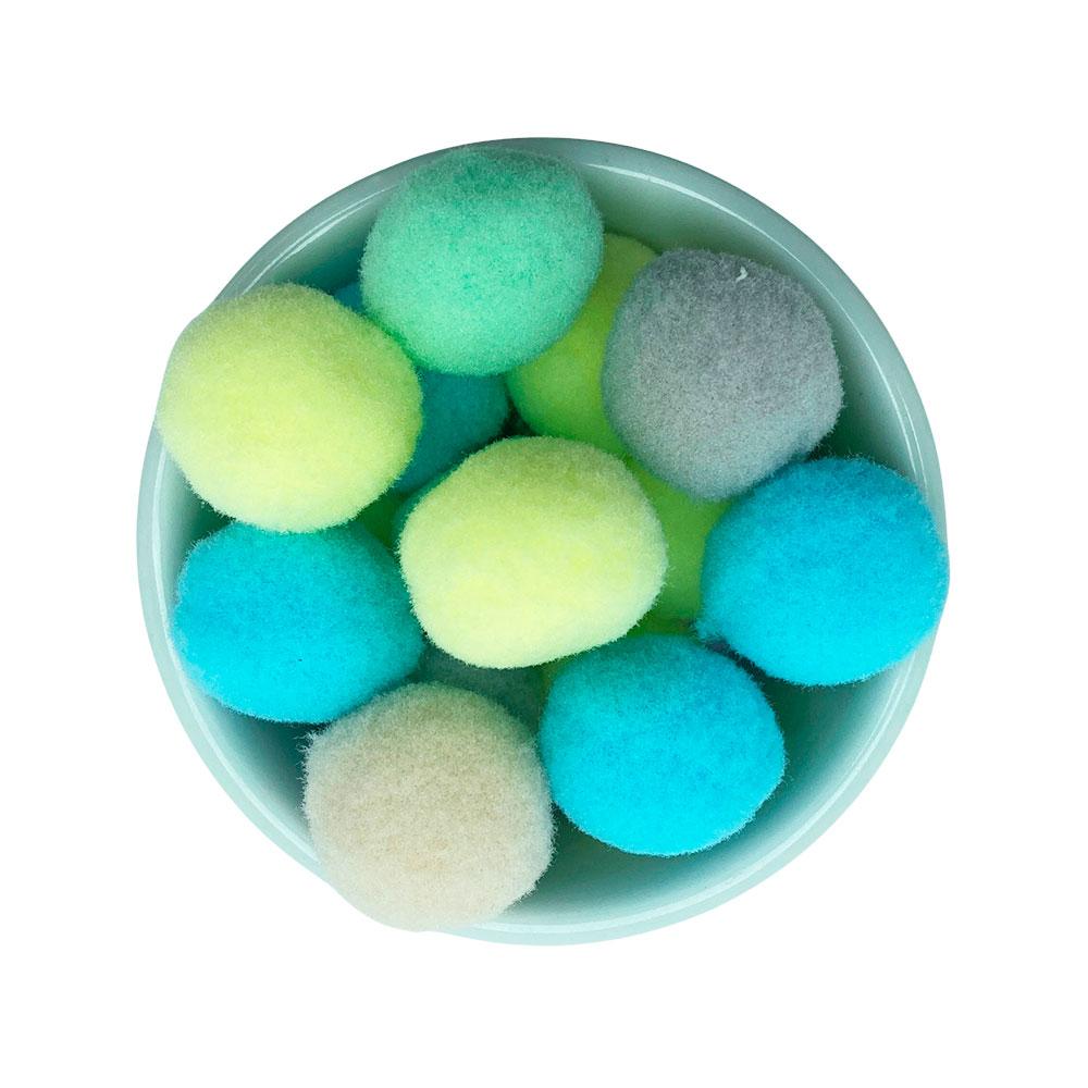 Pompom 25mm Sortido Candy Color Pacote 10 unidades