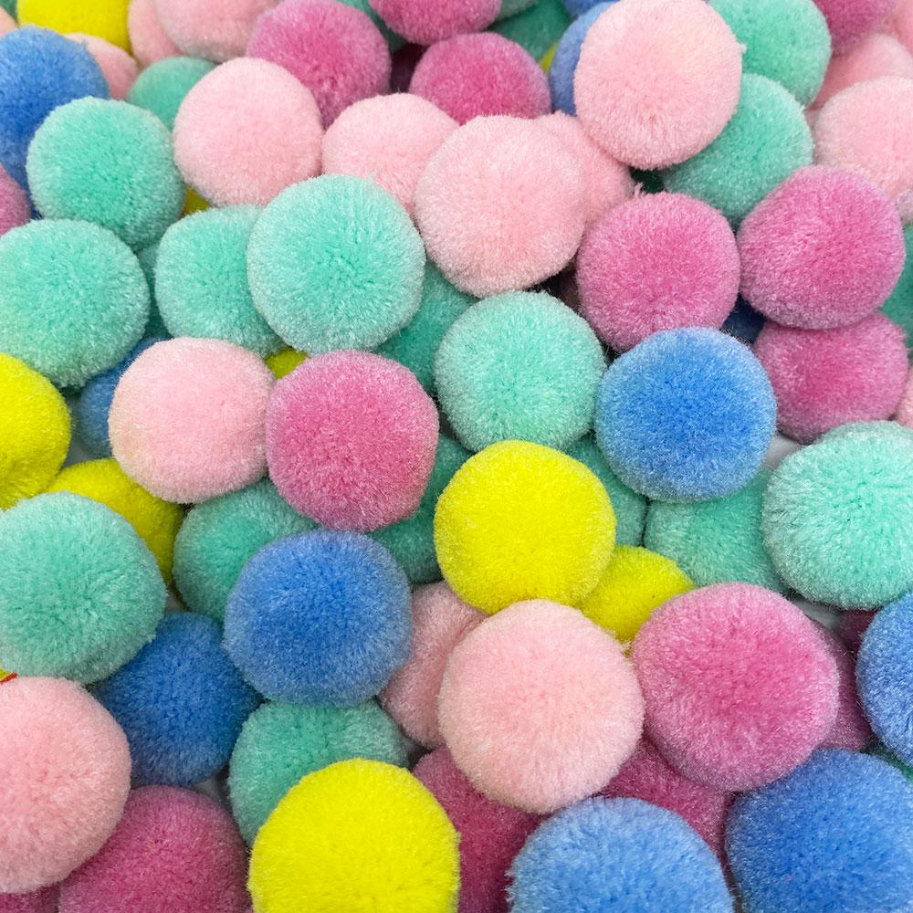 Pompom 30mm Sortido Candy Color Pacote 10 unidades