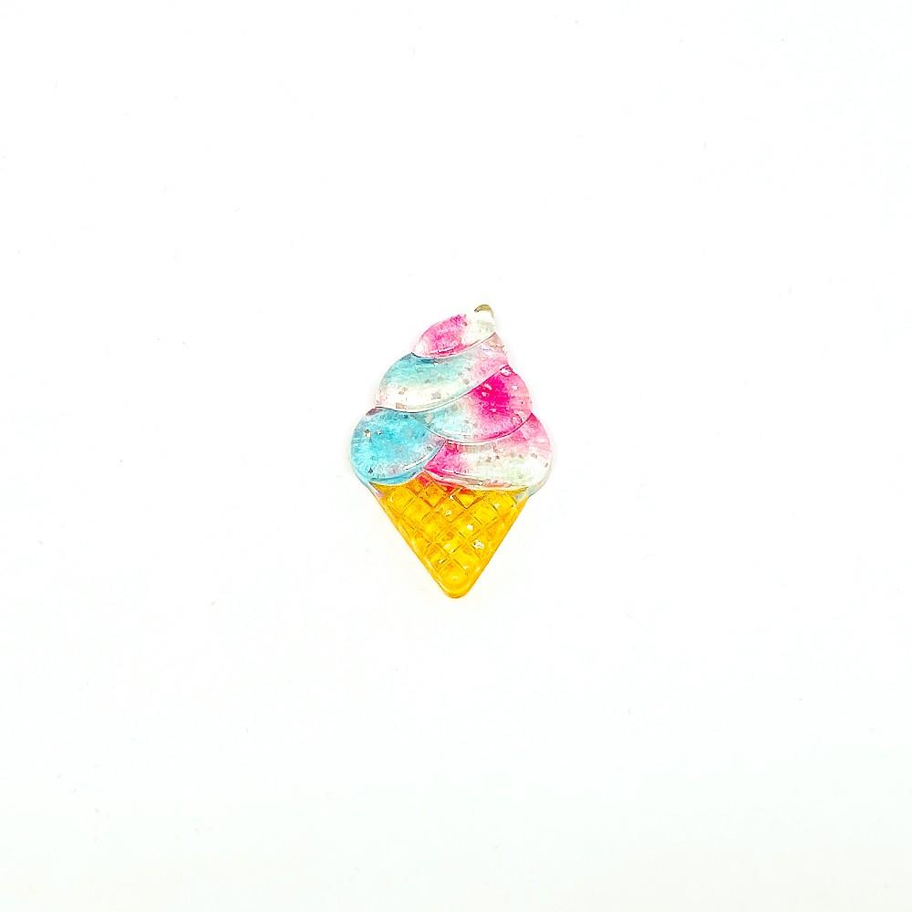 Sorvete de Resina Colorida 3,5cm x 2,0cm