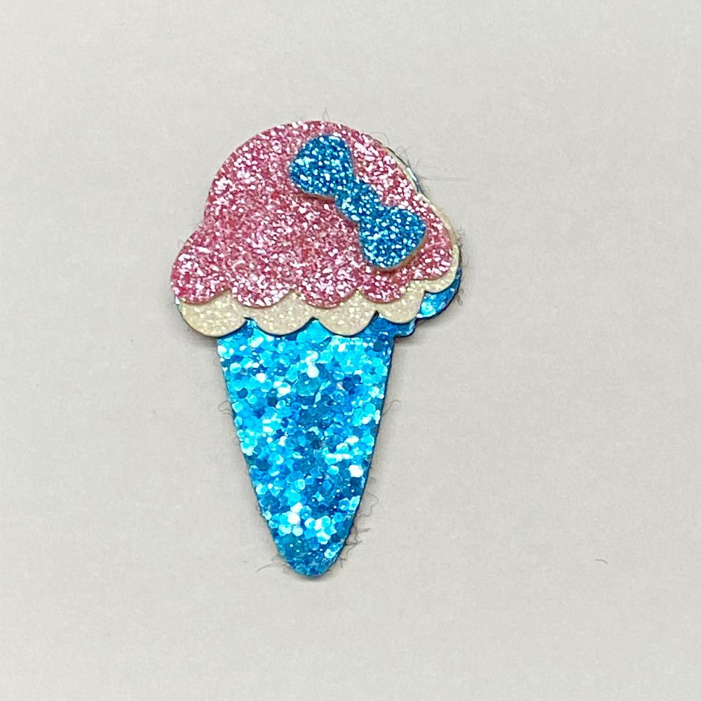 Sorvete Glitter e Feltro 5,0cmx3,0cm
