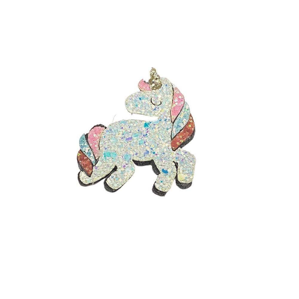 Unicórnio Glitter e Feltro 6,0cmx5,0cm