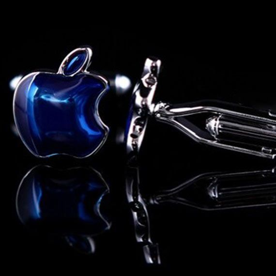 Abotoadura Masculina Maçã Azul