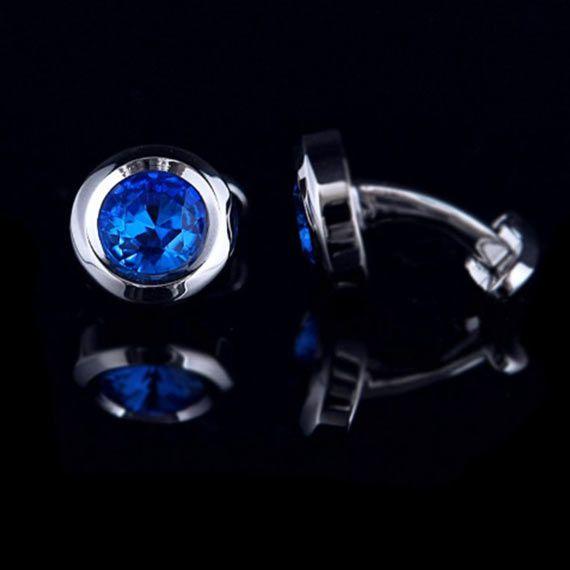 Abotoadura Masculina Pedra Azul