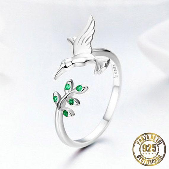 Anel Simbolo da Paz de Prata