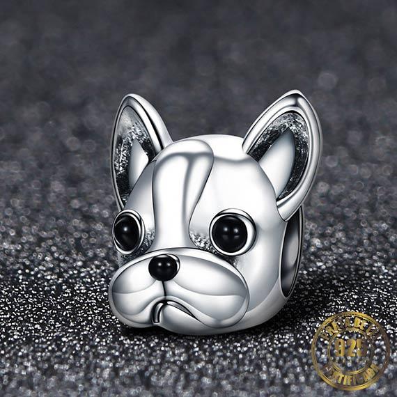 Berloque Bulldog Francês de Prata