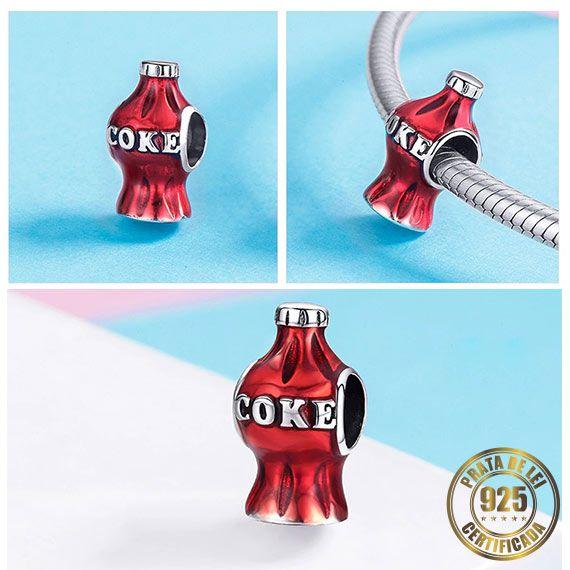 Berloque Coca Cola de Prata