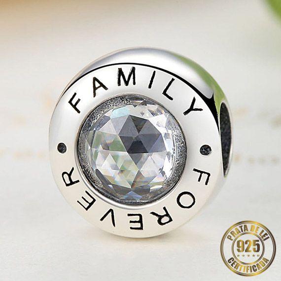 Berloque Family Forever de Prata