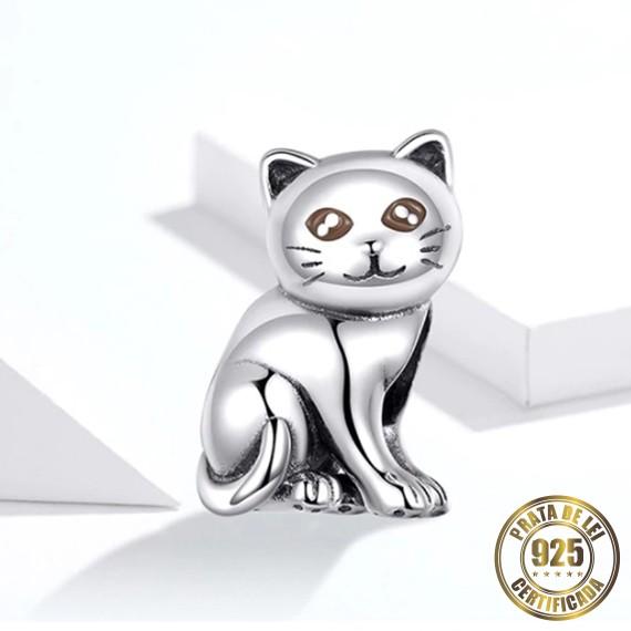 Berloque Gato Bebê de Prata