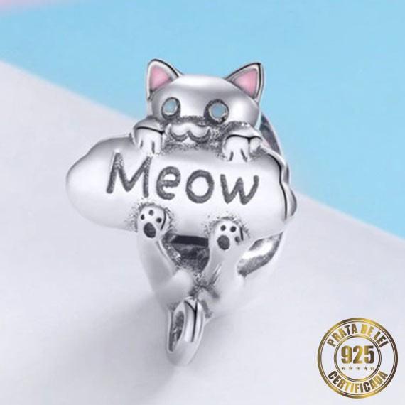 Berloque Gato Meau de Prata