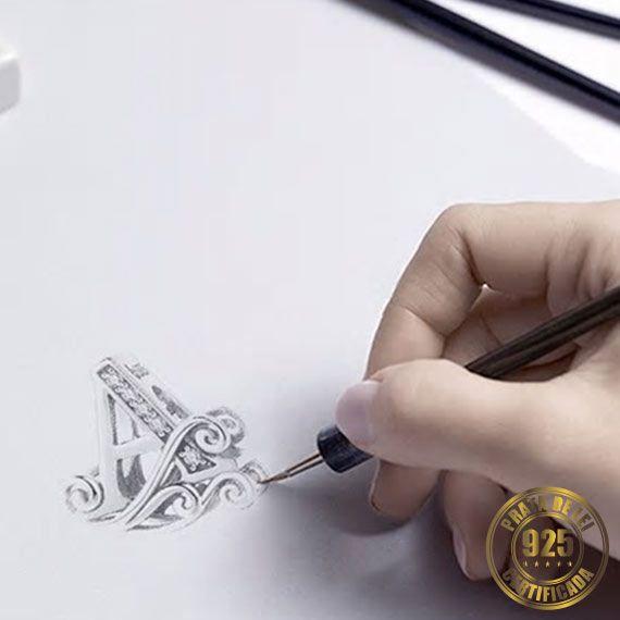 Berloque Letra A de Prata