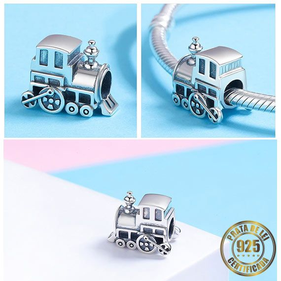 Berloque Locomotiva de Prata