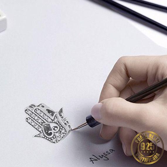 Berloque Mão de Fátima I de Prata