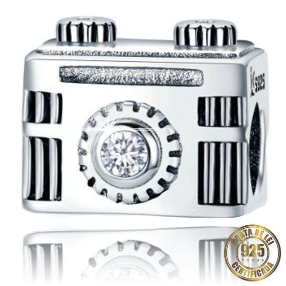 Berloque Máquina Fotográfica de Prata