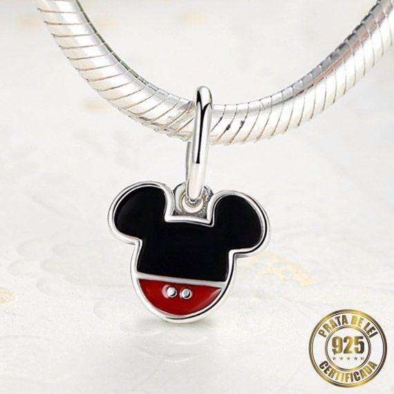 Berloque Mickey de Prata