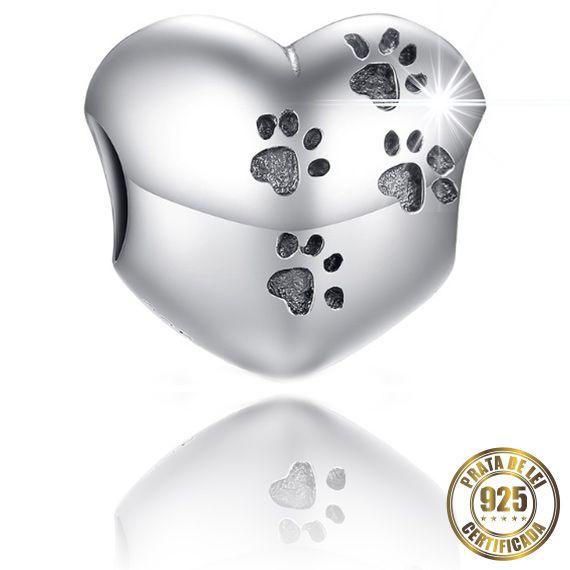 Berloque Pata de Cachorro de Prata