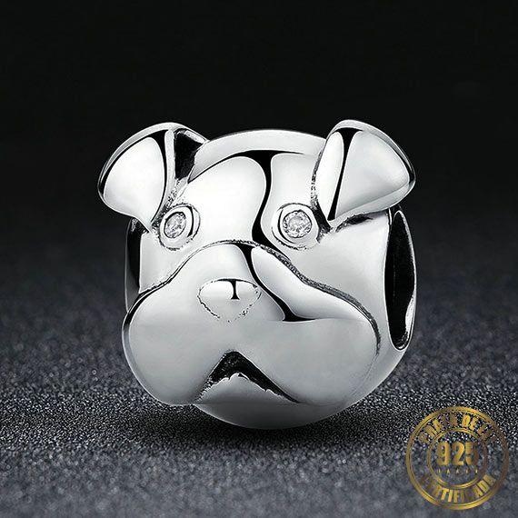 Berloque Pug de Prata