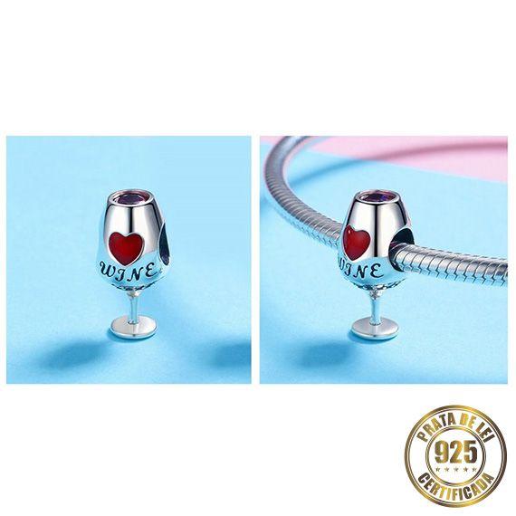 Berloque Taça de Vinho I de Prata