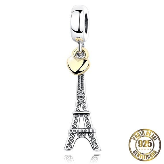 Berloque Torre Eiffel de Prata