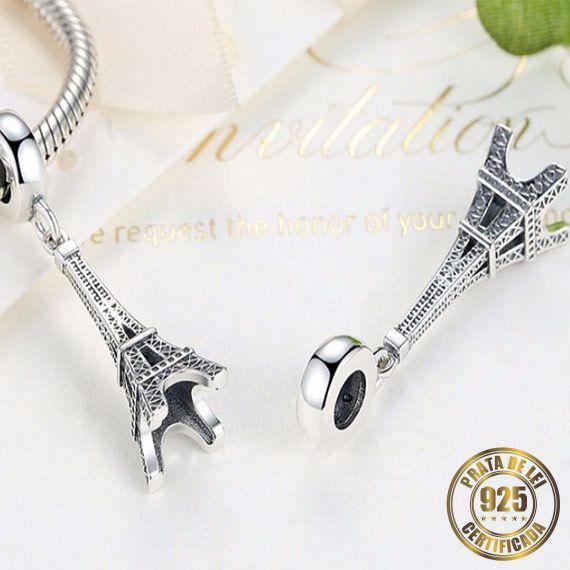 Berloque Torre Eiffel I de Prata