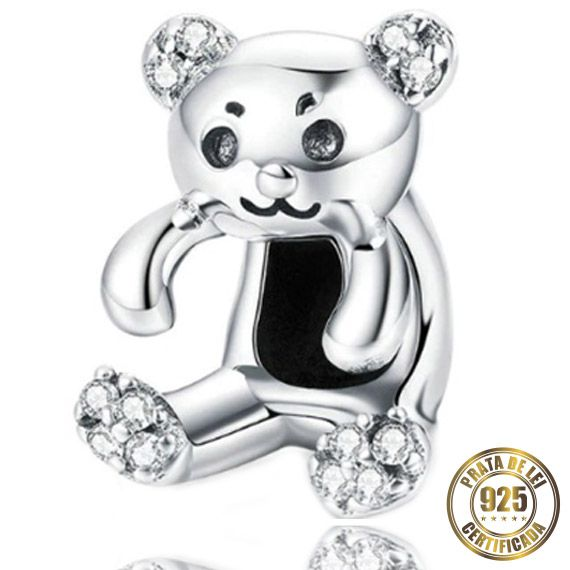 Berloque Urso de Prata