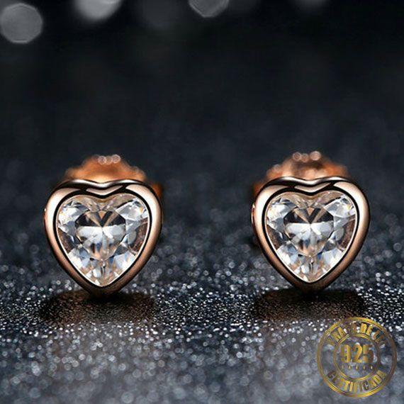 Brinco de Coração de Prata