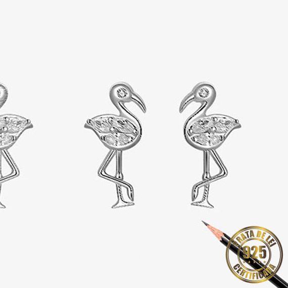 Brinco de Flamingo de Prata