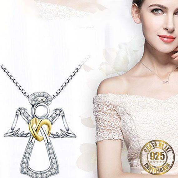 Colar de Anjo de Prata