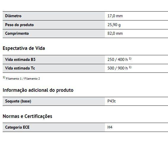 H4 12V OSRAM Classic Bilux 60/55w   - E-Shop Autostore - A loja do Canal Auto Didata
