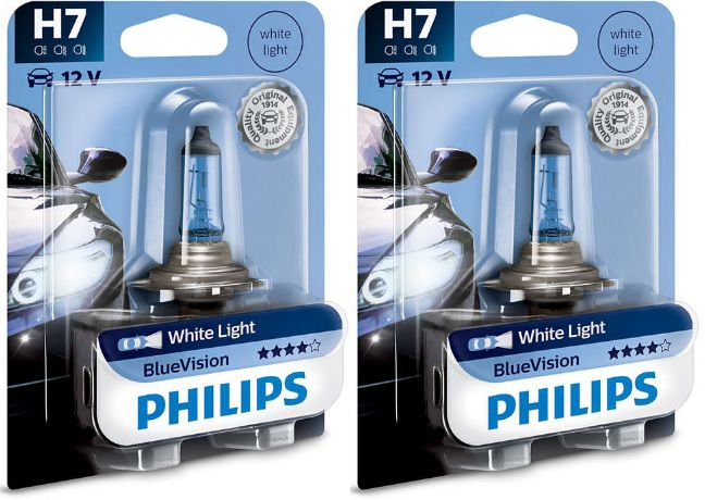 H7 Philips Blue Vision White Light 12V 4000K  - E-Shop Autostore - A loja do Canal Auto Didata