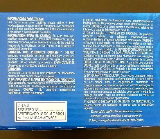 Jogo de Pastilhas traseiras COBREQ OEN FoMoCo Ford Fusion 2006 até 2012   - E-Shop Autostore - A loja do Canal Auto Didata