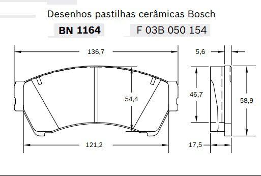 Pastilhas DIANTEIRAS BOSCH DE CERÂMICA FORD FUSION 2006/2012  - E-Shop Autostore - A loja do Canal Auto Didata