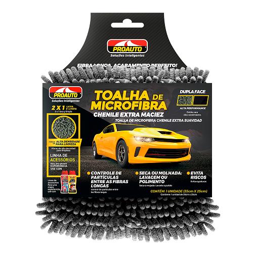 TOALHA MICROFIBRA CHENILE (35cm x 25cm)  - E-Shop Auto Store - A loja do Canal Auto Didata