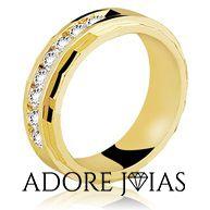 Aliança de Casamento em Ouro 18k Fernanda