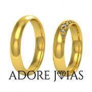 Aliança de Casamento em Ouro 18 k Atenas
