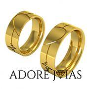 Aliança de Casamento em Ouro 18 k Cancún