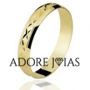 Aliança de Casamento em Ouro 18k Jasmim