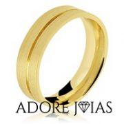 Aliança de Casamento em Ouro 18k Leona